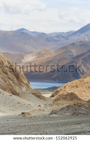 first view of Pangong Lake