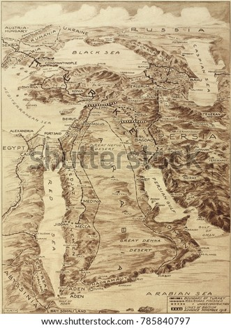First world war map middle east foto de stock libre de regalas first world war map middle east foto de stock libre de regalas785840797 shutterstock gumiabroncs Images