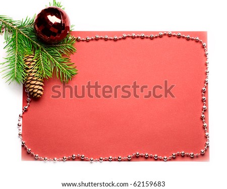 Firtree and Christmas-tree decoration isolated on white