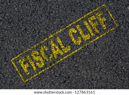 Fiscal cliff background - stock photo