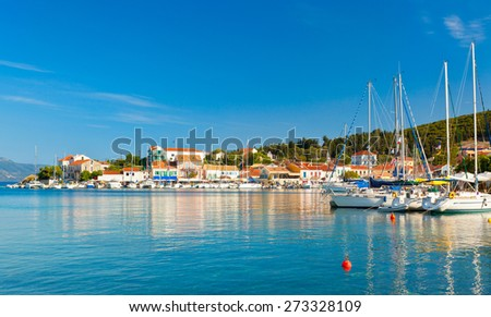 Fiscardo on the island of Kefalonia - stock photo