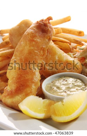 Fish and chips. - stock photo