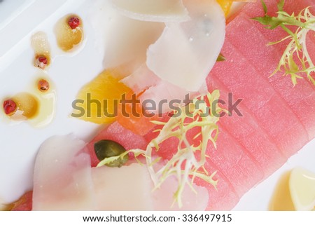 fish appetizer - stock photo