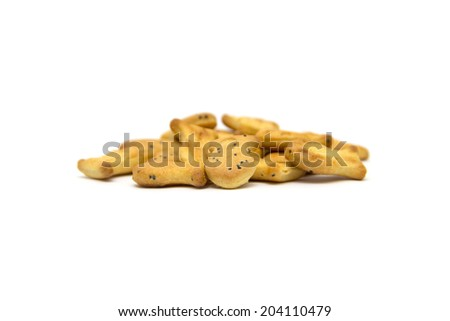 fish cookies isolated on white