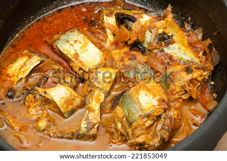 fish curry - stock photo