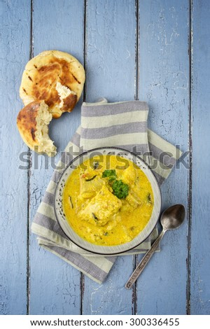 Fish Curry in Bowl - stock photo