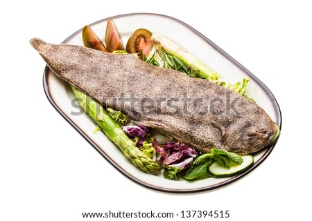 Fish Dover sole - stock photo