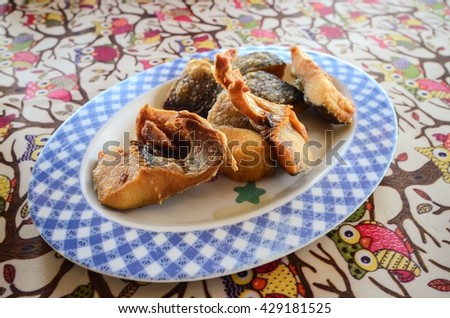 fish fillets fry - Closeup of delicious - stock photo