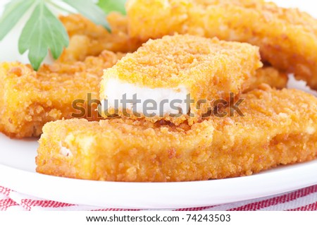 Fish fingers - stock photo