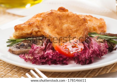 Fish in Batter with Vegetables