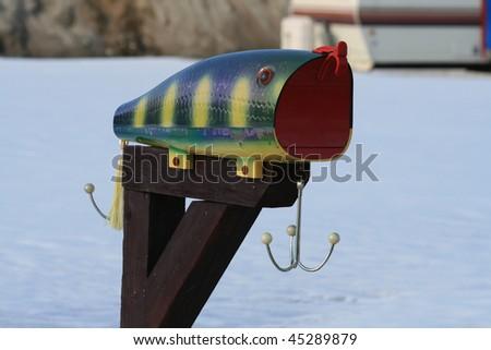 Fish Mailbox - stock photo