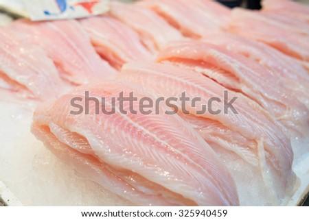 Fish market in Greece - stock photo