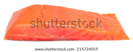 fish meat isolated on white background - stock photo