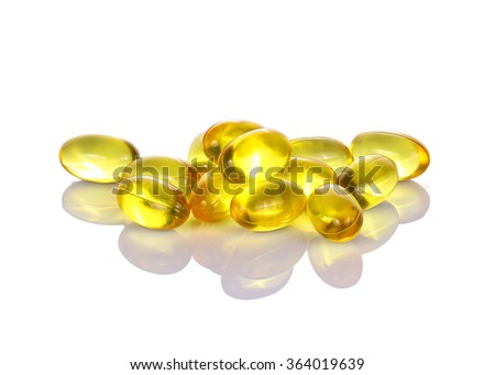Fish Oil capsule  isolated on white background