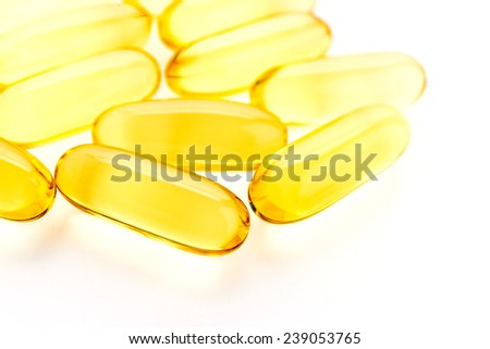 Fish oil isolated on white background - stock photo