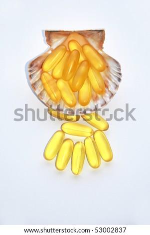 Fish Oil Vitamins - stock photo