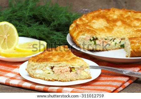Fish pie - stock photo