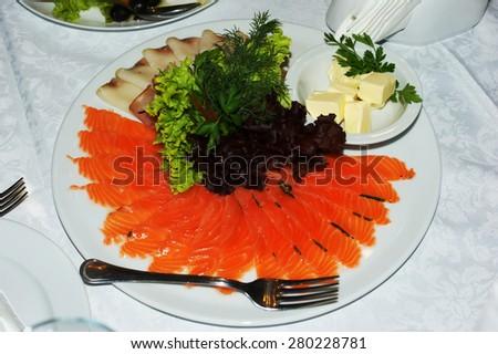 fish platter - stock photo