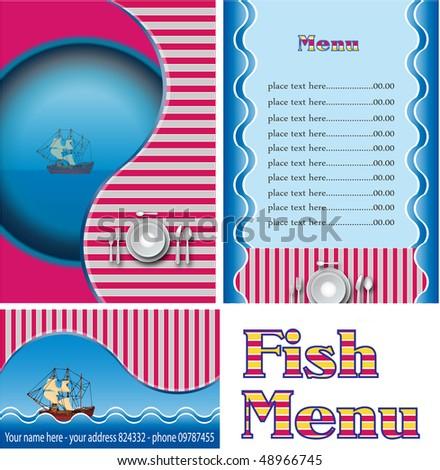 Fish restaurant menu - stock photo