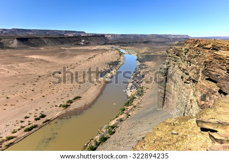 Fish River Canyon in Namibia, Africa. It is the largest canyon in Africa.