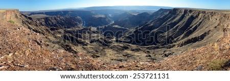 Fish River Canyon, Namibia - stock photo