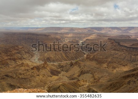 Fish River Canyon - The second largest canyon in the world  - stock photo