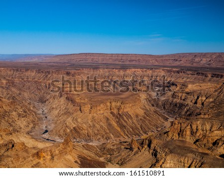 Fish River Canyon - The second largest canyon in the world (Namibia) - stock photo
