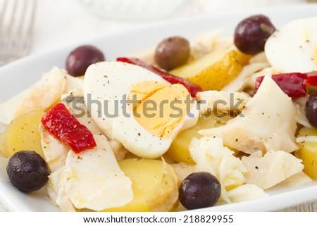 fish salad - stock photo