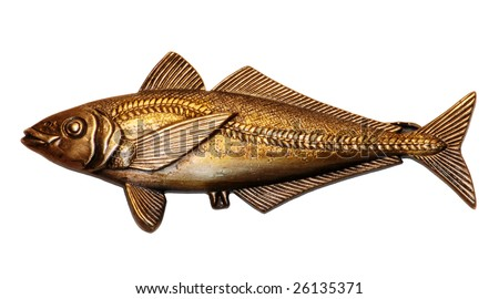 Fish shape Tie Clip - stock photo