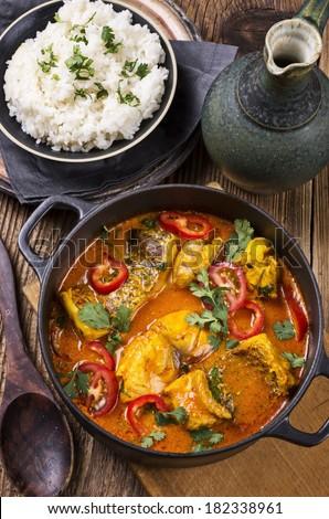 fish stew  - stock photo