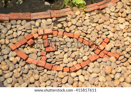 fish stone in the garden background - stock photo