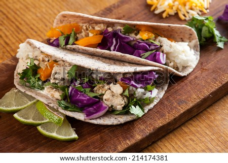 Fish Tacos - stock photo