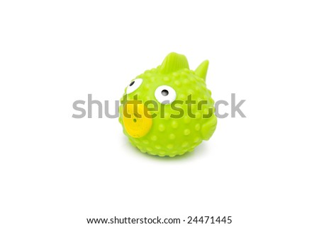 fish toy isolated on white