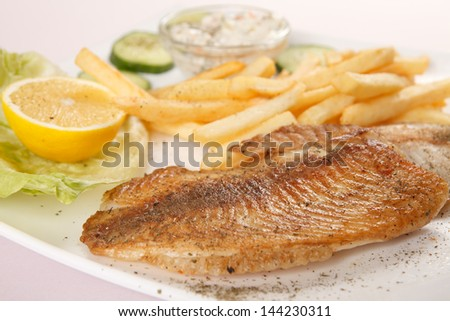 fish with french fries
