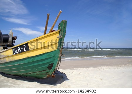 Fishboat at beach from Poland