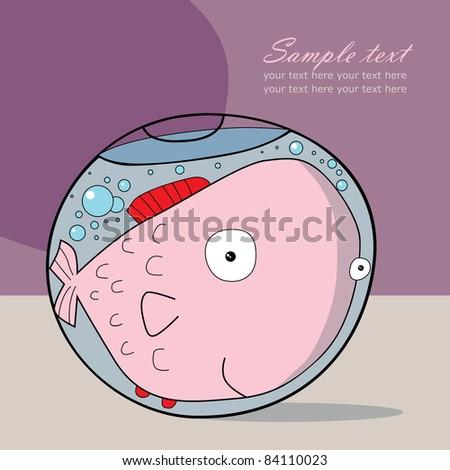Fishbowl, raster version - stock photo