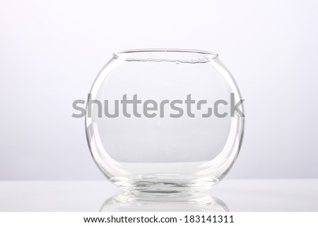 fishbowl, vase, glass