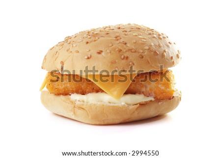 Fishburger, - stock photo