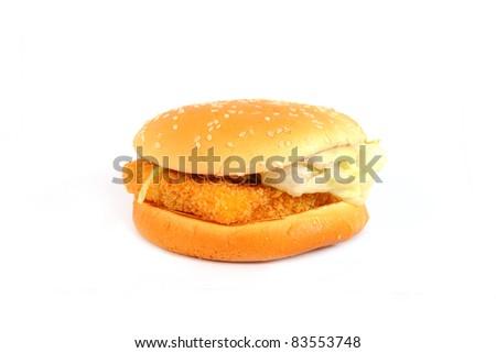 fishburger - stock photo