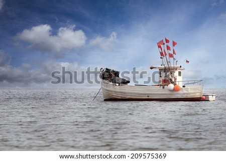 Fisher Boat anchoring in the Baltic Sea
