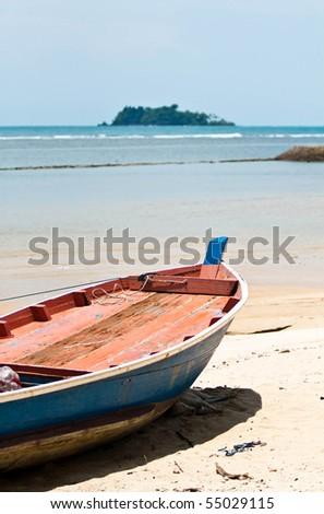 fisher boat on a beach