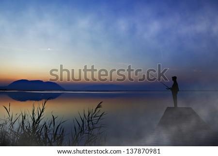 Fisherman - stock photo