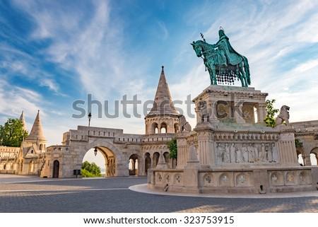 Fisherman Bastion, Budapest, Hungary - stock photo