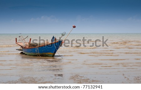 fisherman boat at a shore