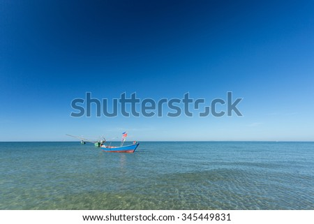 fisherman boat on the sea