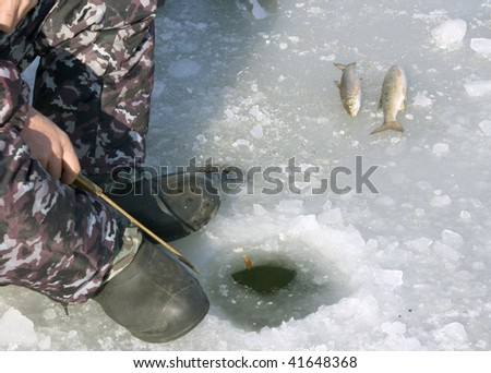 Frozen person stock images royalty free images vectors for Frozen fishing pole
