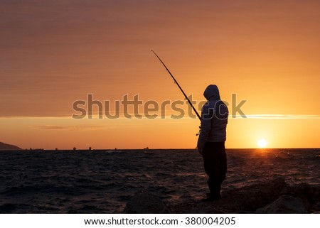 Fisherman from Akko on the Mediterranean Sea