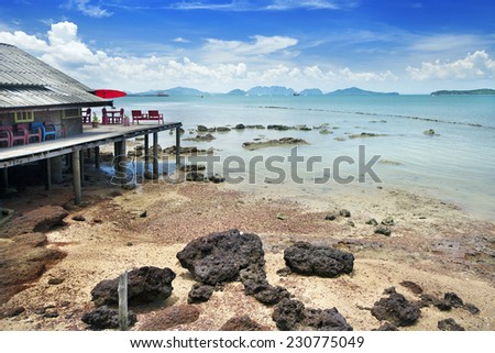 Fisherman house on Koh lanta, Thailand - stock photo