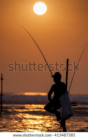 Fisherman in Sri Lanka