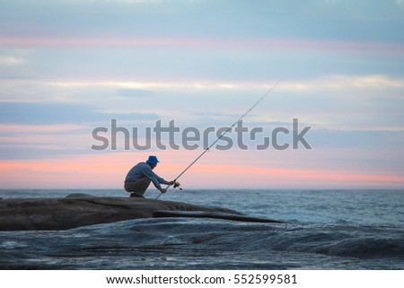 fisherman in the early morning